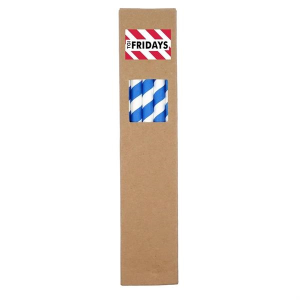 10 Pack Biodegradable Paper Straws in Paper Box (0.8cm dia.)
